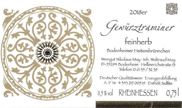Weingut Nikolaus May Gewürztraminer feinherb 2018
