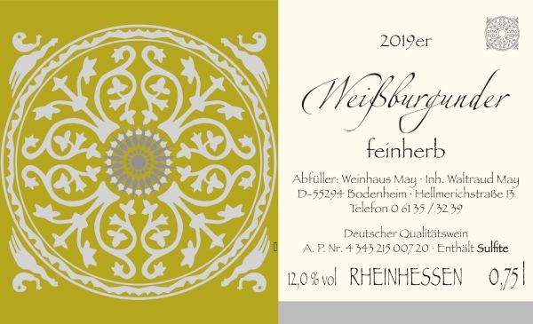 Weinhaus May Weißburgunder feinherb 2019