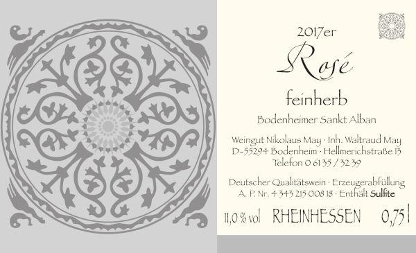 Nikolaus May Rosé 2017 - feinherb