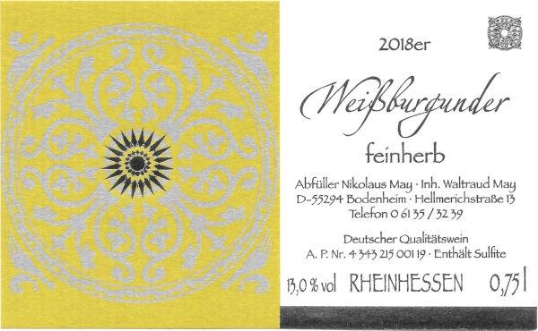 Weingut Nikolaus May Weißburgunder feinherb 2018