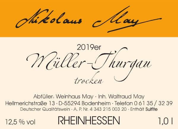 Nikolaus May Müller-Thurgau 2019