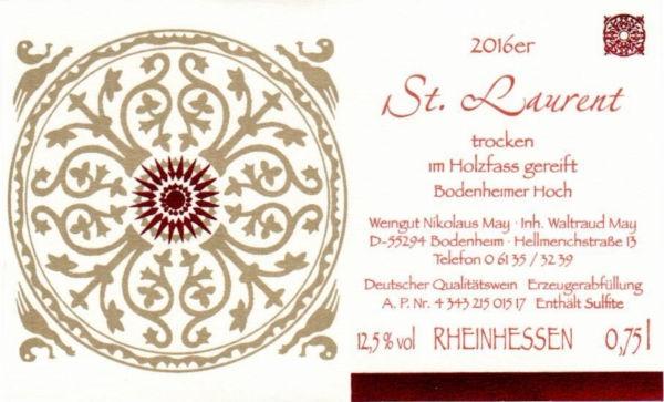 Weingut Nikolaus May St. Laurent 2016