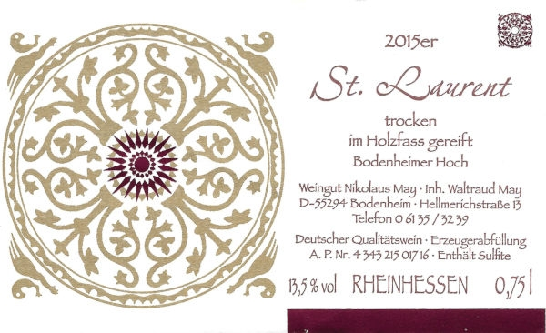 Weingut Nikolaus May St. Laurent 2015